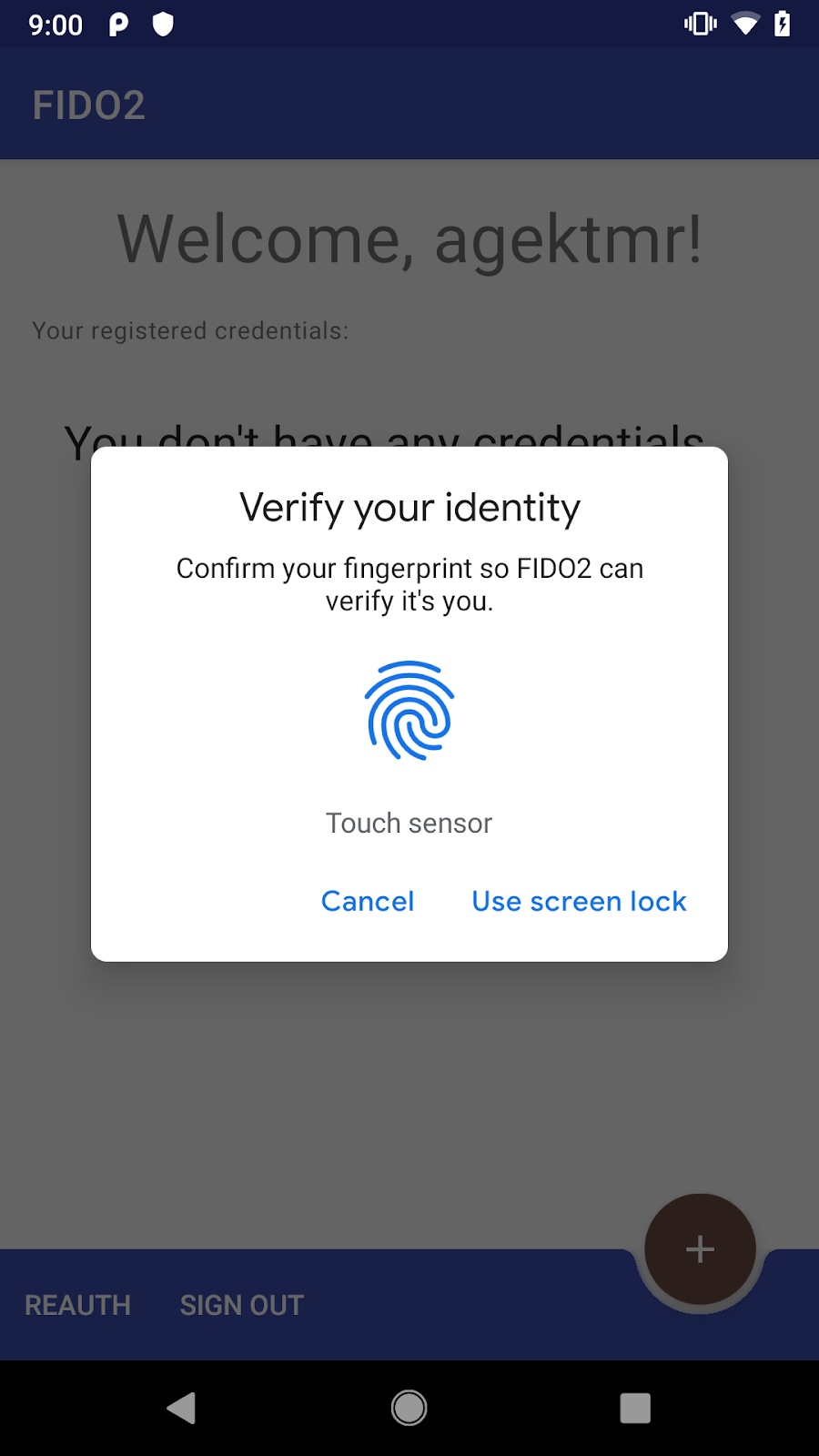 Your First Android FIDO2 API