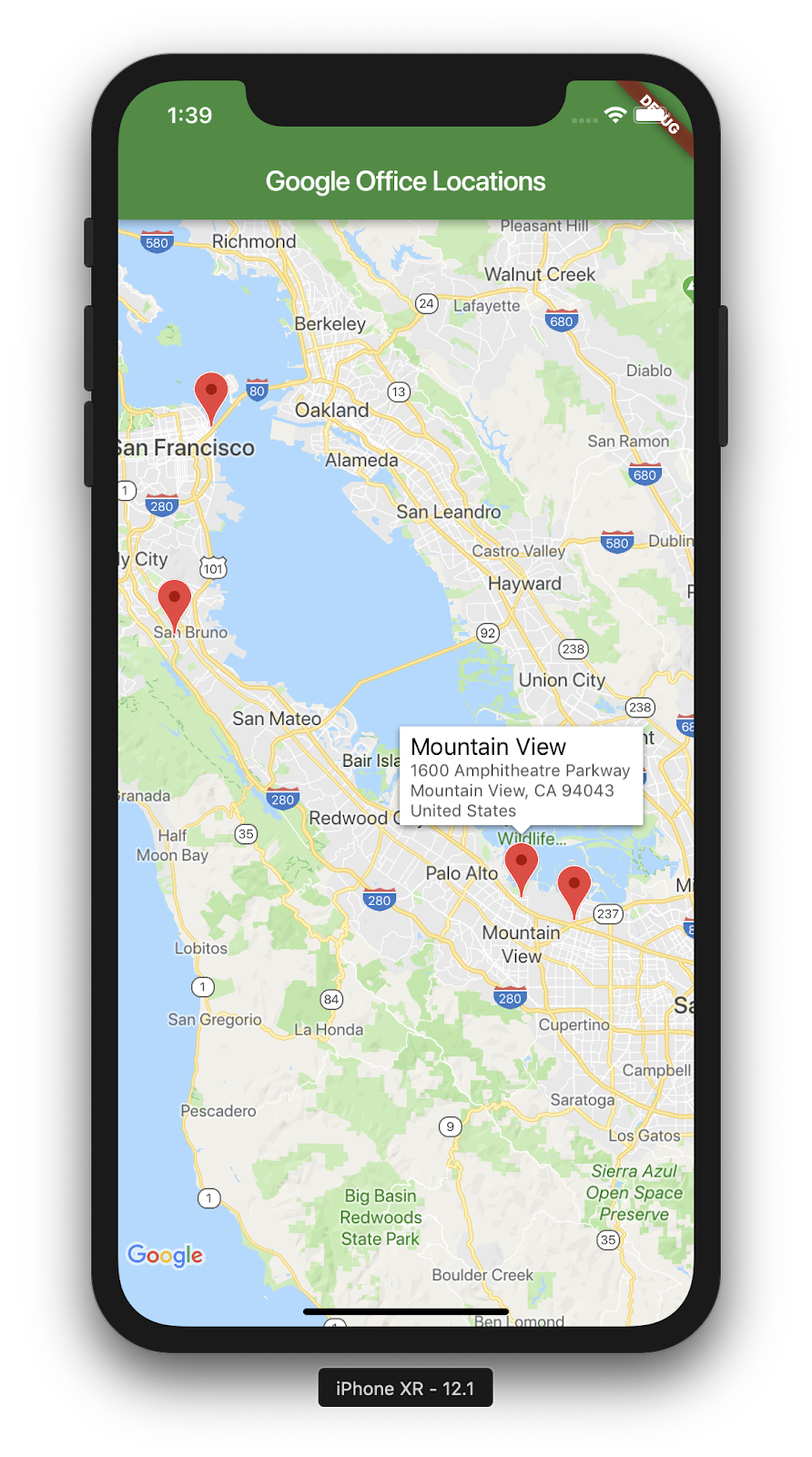 Adding Google Maps to a Flutter App on