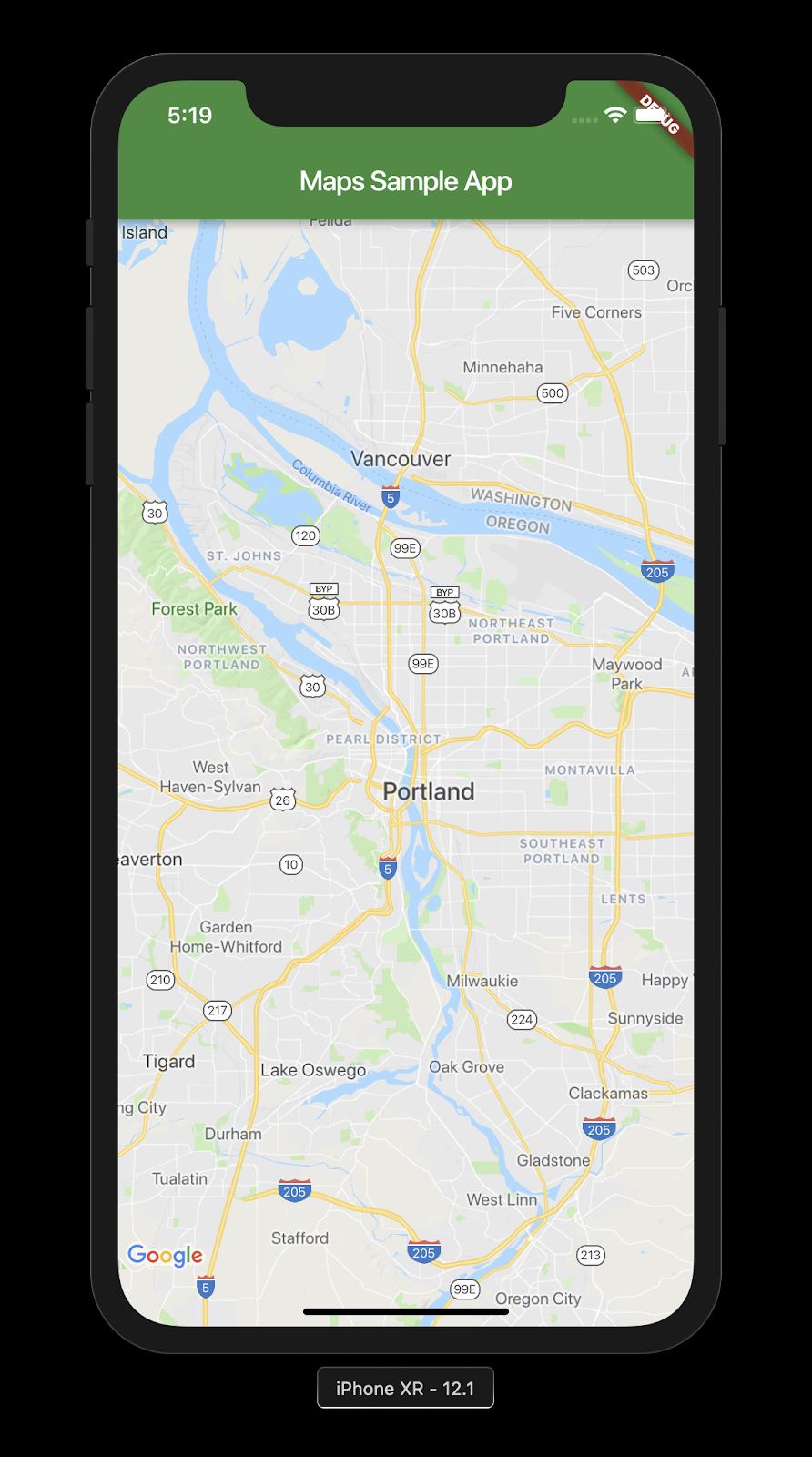 Adding Google Maps to a Flutter App
