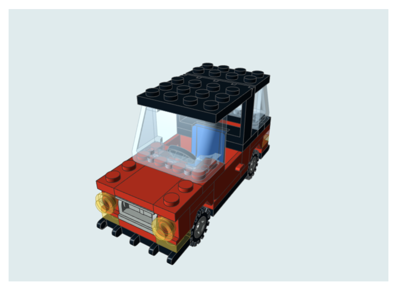 A brick-viewer element displaying a model of a car.