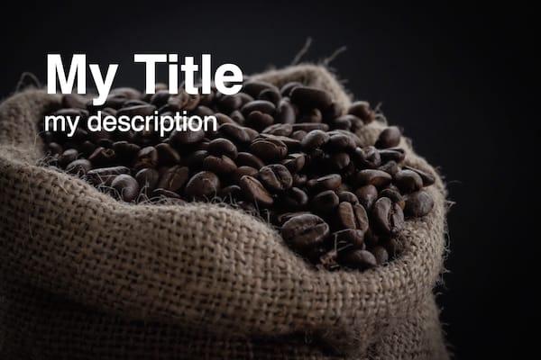 スタイル設定された story-viewer でコーヒー画像を表示