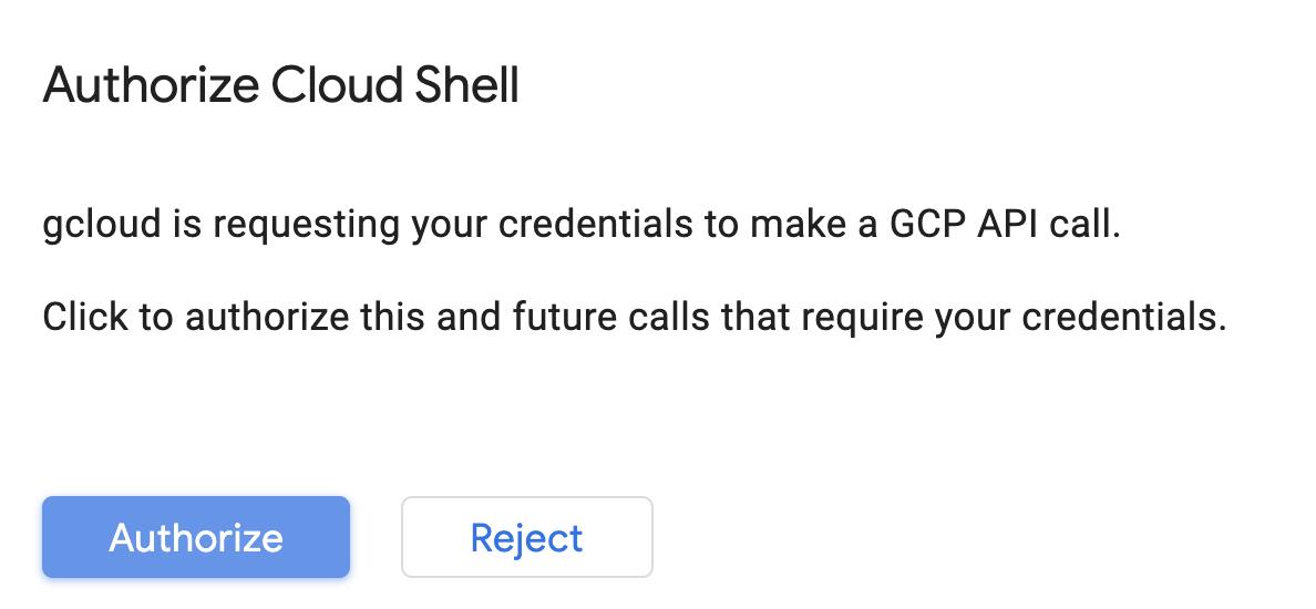 Authorize cloud shell