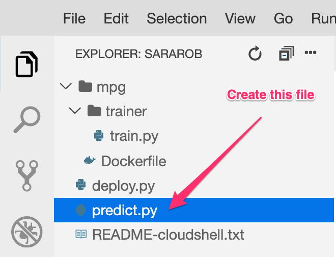 Create predict file