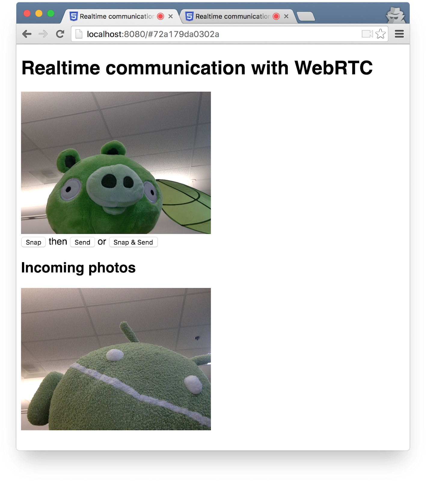 Real time communication with WebRTC
